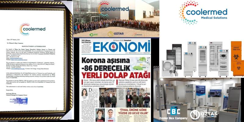 CoolerMed ủy quyền chính thức cho công ty thiết bị Ngày nay đại diện phân phối tại Việt Nam